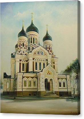 Nevsky Catedral Canvas Print by Ahto Laadoga