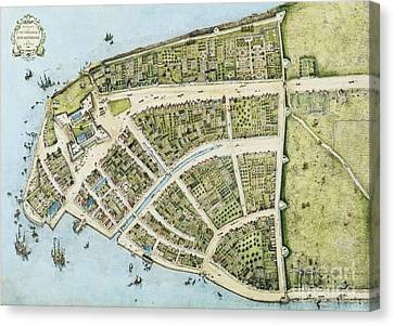New Amsterdam Canvas Print by Pg Reproductions