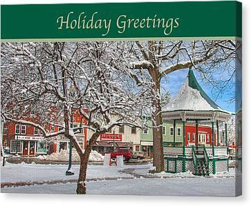 New England Christmas Canvas Print by Joann Vitali