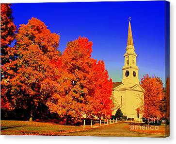 New England Church  Canvas Print