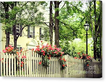 New England Home Canvas Print by HD Connelly