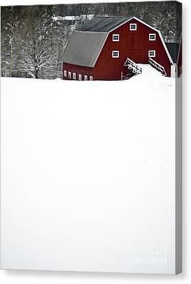 New England Winter Canvas Print by Edward Fielding