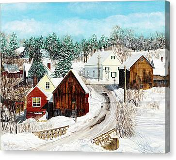 New England Winter Canvas Print by Stuart B Yaeger