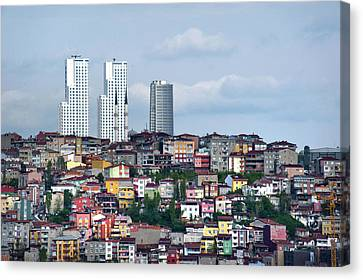New Istanbul Canvas Print by Cheminsnumeriques