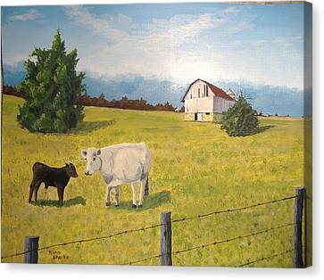 Canvas Print featuring the painting New Kid On The Block by Norm Starks