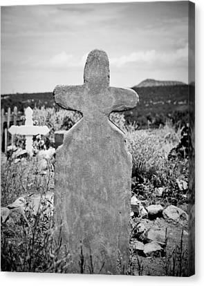 Headstones Canvas Print - New Mexico Cross by Sonja Quintero