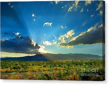 New Mexico Desert Canvas Print by Betty LaRue