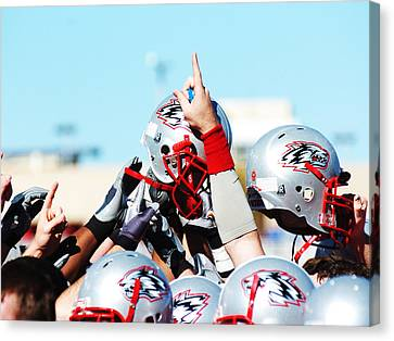 New Mexico Football Huddle Canvas Print by University of New Mexico Athletics