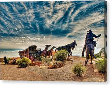 Canvas Print featuring the photograph New Mexico History Museum by Anna Rumiantseva