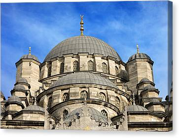 New Mosque Domes In Istanbul Canvas Print by Artur Bogacki