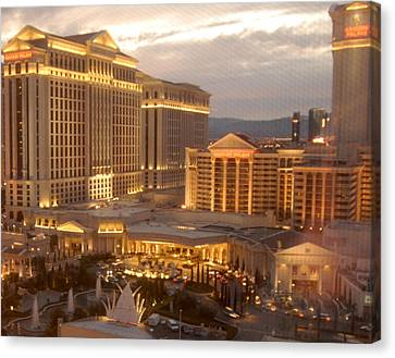 New Old World Caesar's Palace Canvas Print by Dawn Bonner