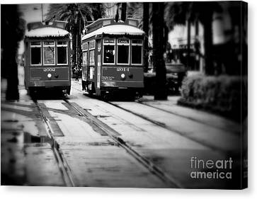 New Orleans Classic Streetcars. Canvas Print by Perry Webster