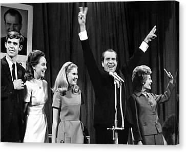 New President-elect Richard Nixon Canvas Print by Everett