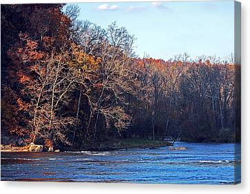 New River At Foster Falls Canvas Print by Denise Romano