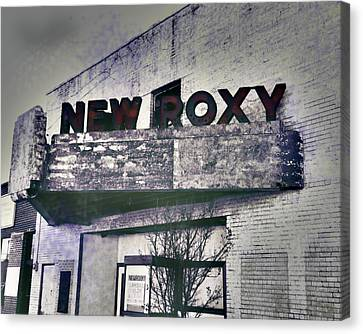 Canvas Print featuring the photograph New Roxy Clarksdale Ms by Lizi Beard-Ward
