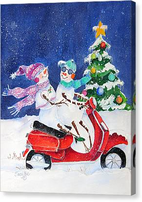 New Scooter Canvas Print by Suzy Pal Powell