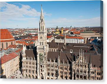 Canvas Print featuring the photograph New Town Hall by Andrew  Michael