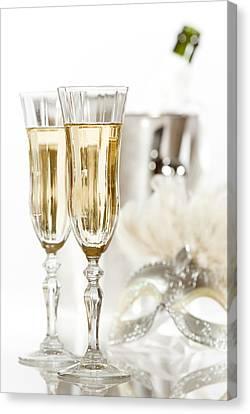 New Year Champagne Canvas Print by Amanda Elwell