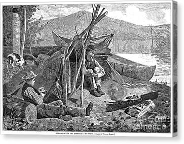 New York: Camping, 1874 Canvas Print by Granger
