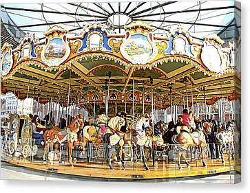 Canvas Print featuring the photograph New York Carousel by Alice Gipson