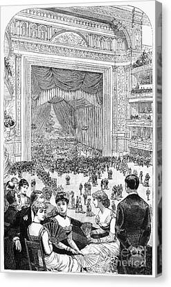 New York Charity Ball, 1884 Canvas Print by Granger