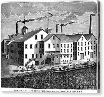 New York: Chemical Works Canvas Print by Granger