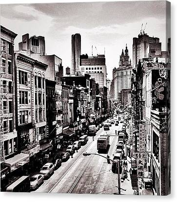 Classic Canvas Print - New York City - Above Chinatown by Vivienne Gucwa