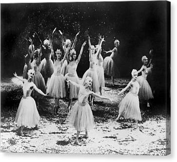 New York City Ballet Performing The Canvas Print by Everett