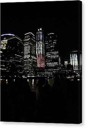 Canvas Print featuring the photograph New York City Freedom Tower by Paul Plaine