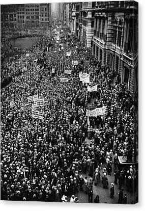 New York City, Hitler Protest Parade Canvas Print by Everett