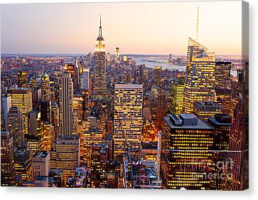 Canvas Print featuring the photograph New York City by Luciano Mortula