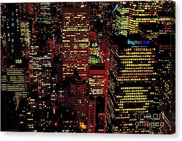 New York City Canvas Print by Rogerio Mariani