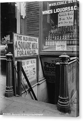 The Bowery Canvas Print - New York City, The Bowery, Entrance by Everett