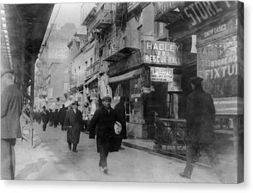 The Bowery Canvas Print - New York City, The Bowery, People by Everett