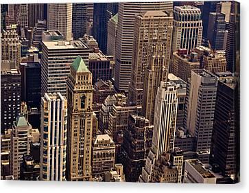 New York City Urban Landscape Canvas Print by Vivienne Gucwa