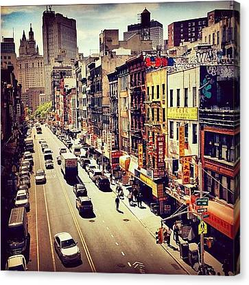New York City's Chinatown Canvas Print by Vivienne Gucwa