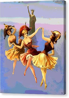 New York Dancing Girls Canvas Print