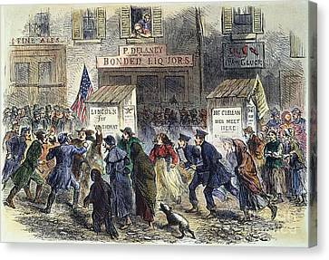 New York: Election, 1864 Canvas Print by Granger