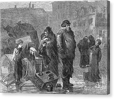 New York: Eviction, 1872 Canvas Print