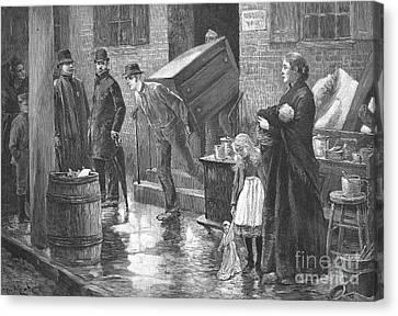 New York: Eviction, 1890 Canvas Print