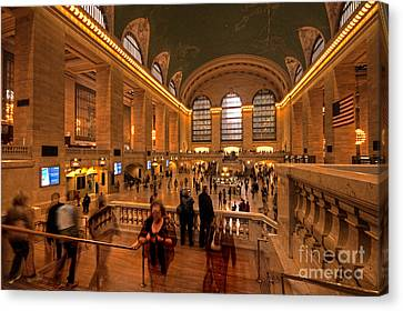 New York Grand Central Canvas Print by Rob Hawkins