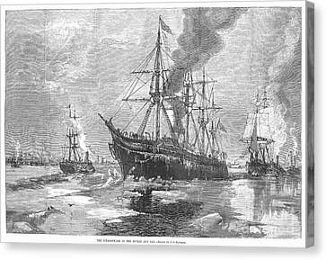 New York Harbor: Ice, 1881 Canvas Print by Granger