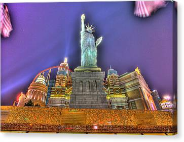 New York In Las Vegas Canvas Print by Nicholas  Grunas