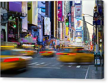 Crosswalk Canvas Print - New York, Manhattan, Midtown, 7th Avenue by Alan Copson