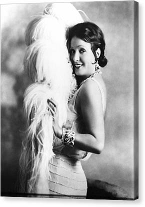 Ostrich Fan Canvas Print - New York Nights, Norma Talmadge, 1929 by Everett