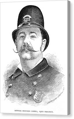 New York Policeman, 1885 Canvas Print by Granger