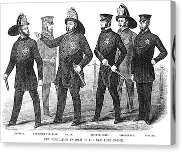 New York Policemen, 1854 Canvas Print by Granger