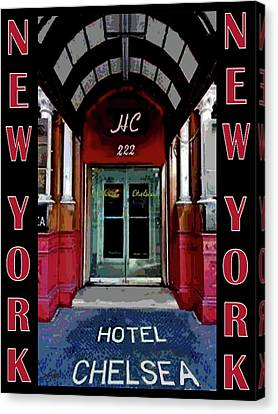 Canvas Print featuring the painting New York Poster by Jann Paxton