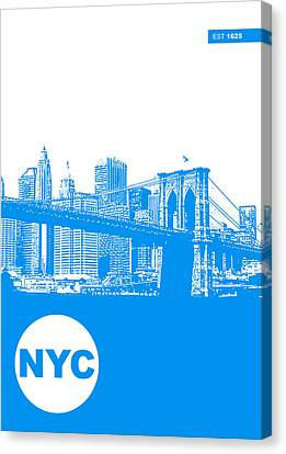 New York City Skyline Canvas Print - New York Poster by Naxart Studio