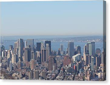 Canvas Print featuring the photograph New York Skyline by David Grant